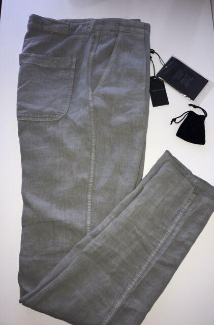 Giorgio Armani Mens Linen Dress Pants 34 Us 50 Euro Italy Vsp35w