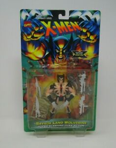 1996 ToyBiz X-Men Flashback Series Savage Land Wolverine Action Figure MOC