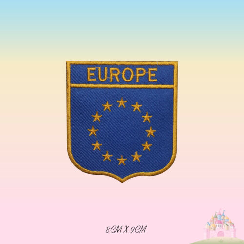 EUROPE National Flag EU Embroidered Iron On Patch Sew On Badge Applique