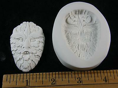 Green Man Face #2 Polymer Clay Mold #MD1472