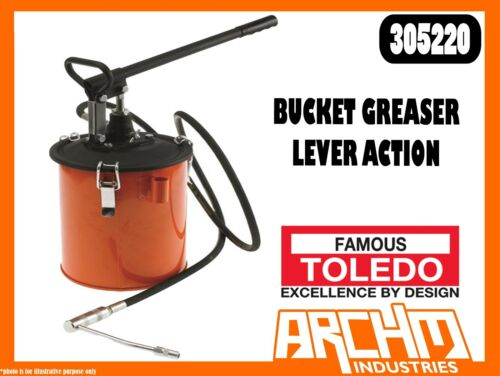 TOLEDO 305220 BUCKET GREASER LEVER ACTION HIGH VOLUME HIGH PRESSURE RAPID