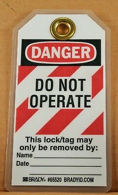 Heavy Duty Polyester 5-1//2 Height Brady Danger Do Not Operate Pack of 25 Only the Individual.. Maintenance Department 3 Width Tag