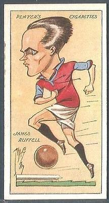"""#29-WEST HAM /& ENGLAND-JAMES RUFFELL PLAYERS 1927 FOOTBALL CARICATURES BY /""""MAC/"""""""