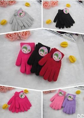 DI US Children Magic Glove Girl Boy Kid Stretchy Knitted Winter Warm Pick Colour