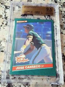 JOSE CANSECO 1986 Donruss Rookies Rookie Card RC BGS 9.5 GEM MINT A's 40-40 Man
