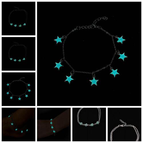 Glow In Dark Chain Anklet Ankle Bracelet Barefoot Sandal Beach Foot Jewelry NIU