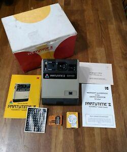 Vintage-Kodak-EK-100-Polaroid-Partytime-II-2-Instamatic-Kodamatic-with-Box-1970s