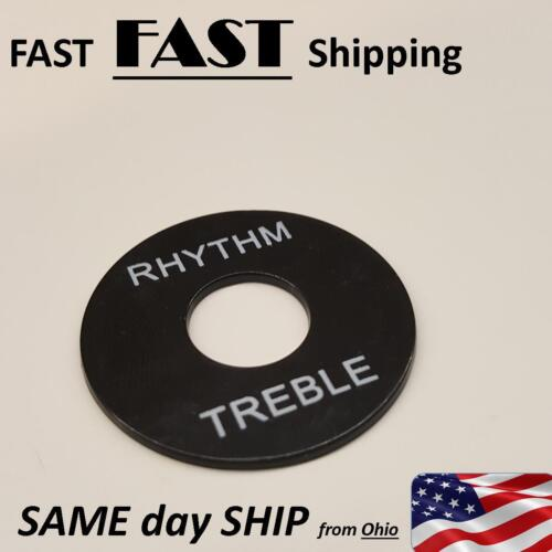 "Nomenclature Plate  /"" rhythm /& treble /"" round guitar dress up parts"