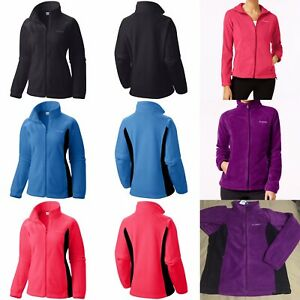 AUTHENTIC-COLUMBIA-WOMEN-039-s-Winter-Full-Zip-Fleece-Jacket-XS-S-M-L-XL-1X-2X-3X