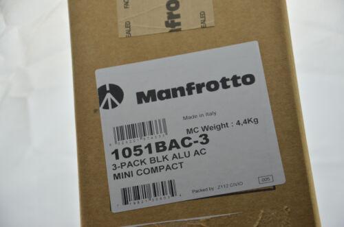 Manfrotto 1051BAC-3 Set 3 x Stativ Mini Compact Stand black treppiedi trépied