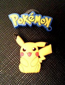 Jibbitz Shoe Charms Pikachu X 2 Crocs For Pokemon amp; Wristbands Or qIzXfU