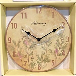 Decorative-Wall-CLOCK-Rosemary-Herbal-Theme-2AA-Batteries-Round-10-in-Dia