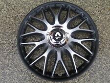 4 Alu-Design Radkappen 15 Zoll Orden black matt für Renault