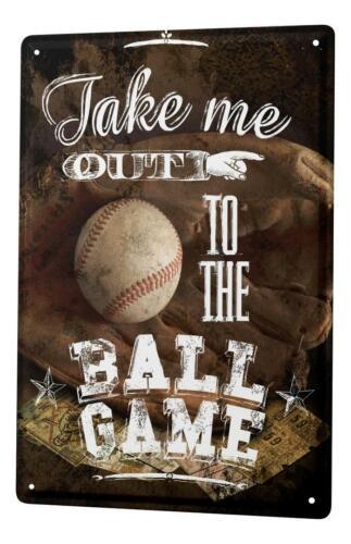Cartello Targa in Metallo Sport Baseball