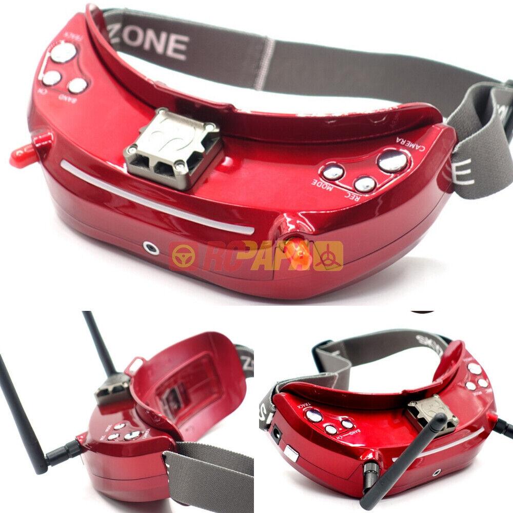 Skyzone Sky03 3D 5.8G 48CH receptor de diversidad vista en primera persona Goggle Drone Carrera Nuevo Rojo