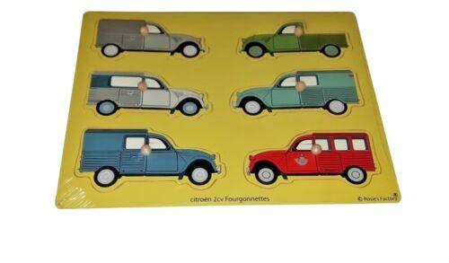 Puzzle en bois voitures Citroen 2cv Fourgonnettes Neuf vintage