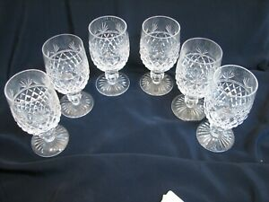 6 Stuart Crystal Montrose Wine Hock Glasses Crystal Stemware Water Juice Goblet