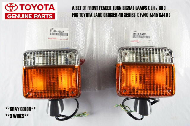 Lh Rh Front Turn Signal Fender Lamp Light For Toyota Land