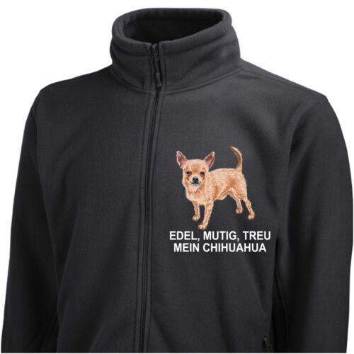 By Jacke Stickerei Fleecejacke Siviwonder Kurzhaar Hund Chihuahua FAgxqU