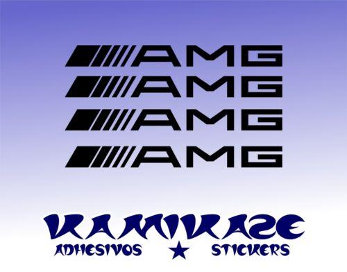 ADHESIVE STICKER STICKER AUTOCOLLANT ADESIVI AUFKLEBER DECAL X4 AMG MERCEDES