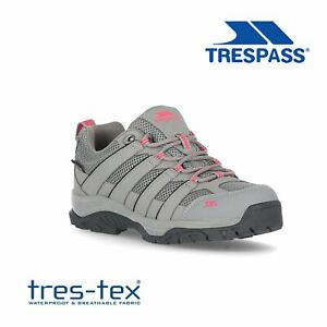 Trespass-Womens-Hiking-Boots-Waterproof-Walking-Trainers-Shoes-in-Grey-Leka