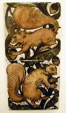 William De Morgan 2 Tile Squirrels Panel / Bathroom / Kitchen / Splashback