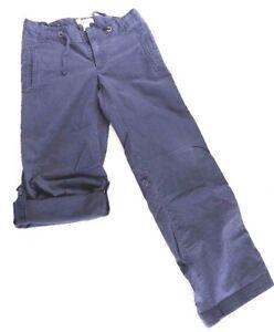 Cherokee-Brand-Girl-039-s-Size-10-EUC-adjustable-waist-Pants-Capri-039-s-Blue-E1