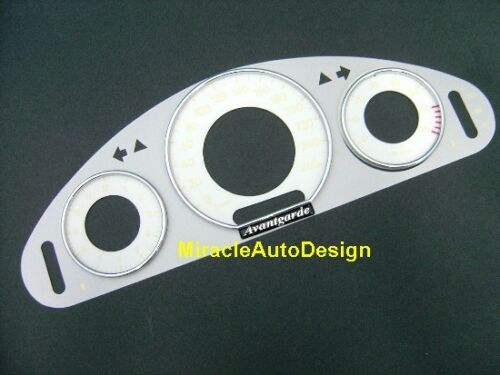 GAUGE PANEL /& GLUSTER RIMS /& WHITE FACES SET FOR 2002-2009 MERCEDES W211 E-CLASS