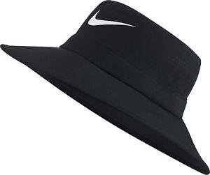92e08e3eeb7 New 2018 Nike Golf UV Cap Bucket Hat Black Medium Large M L 832687 ...