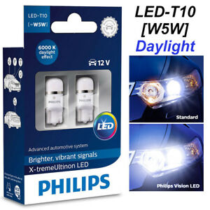 philips w5w t10 xtreme ultinon led 6000k 360 car 12v crystal whit 127996000kx2 8727900395969 ebay. Black Bedroom Furniture Sets. Home Design Ideas