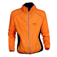 Mens Lightweight Windproof Cycling Jacket Running High Visibility Jacket Coat