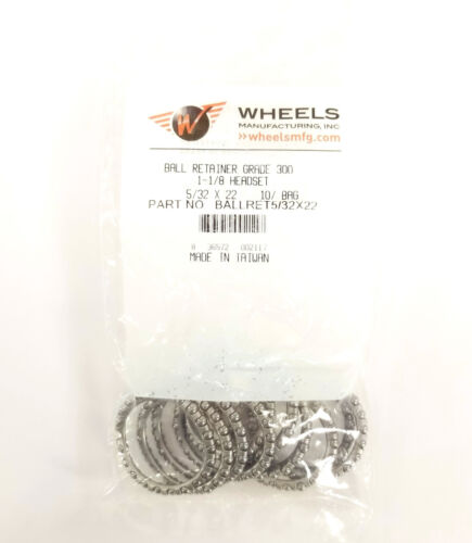 Wheels Manufacturing 5//32 x 22 Headset Bearing Retainer Bag of 10 1-1//8 Aheadset
