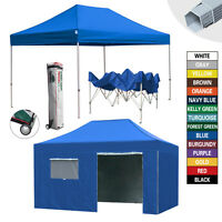 Heavy Duty 10x15 Ez Pop Up Commercial Canopy Outdoor Party Tent W/wheeled Bag