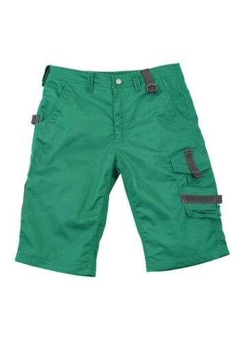 Arbeitshose grün Bermuda Shorts Arbeitskleidung kurze Hose Handwerk Garten Maco