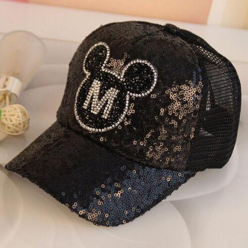 Kids Boys Girls Mickey Minnie Mouse Baseball Cap Snapback Sports Peaked Hat UK