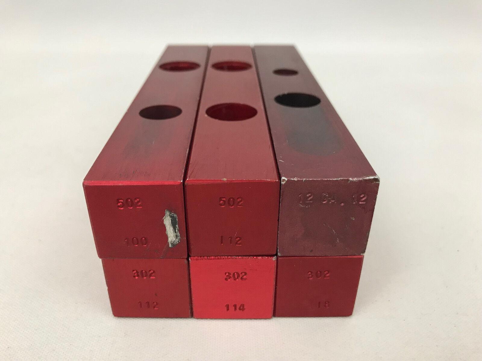 Lot of 6 MEC Charge Bar 302 502 100 112 114 118 For Progressive Reloader
