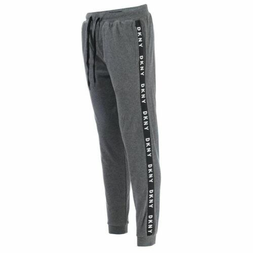 Men/'s DKNY Chiefs Jersey Cotton Elasticated Waist Lounge Pants in Grey