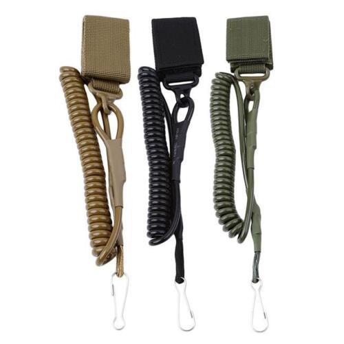 Elastic Military Tactical Rifle Pistol Sling Hook Lanyard Buckle Tool FI