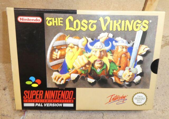 Nintendo Snes Lost Vikings NICE!!! Boxed manuel complet