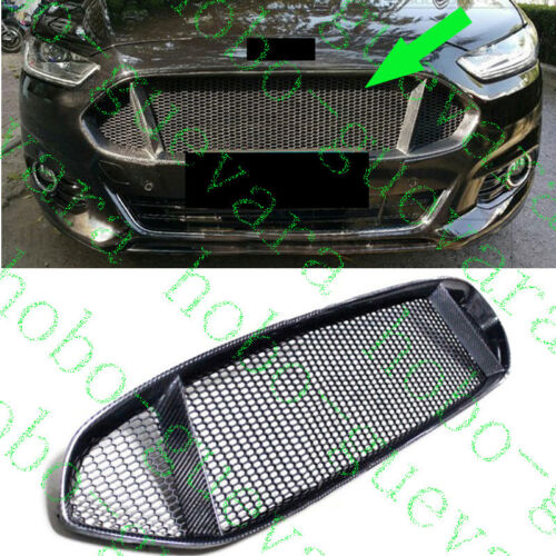 1pcs Car UPPER Front Grille Carbon Fiber for Ford Mondeo//Fusion 2013-2016 DIY