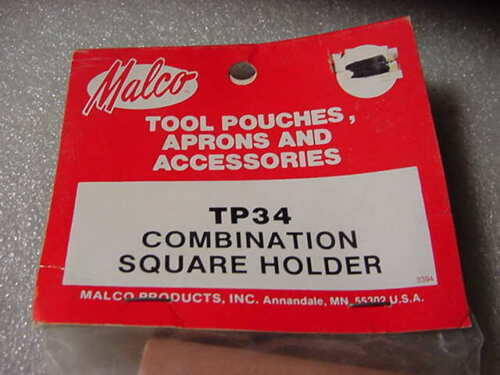 NOS New Malco TP34 Leather Professional COMBINATION SQUARE HOLDER Belt Mount