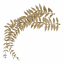 Gold Glittered Artificial Fern Leaves Pack of 2 Stems Christmas Wreath Florist