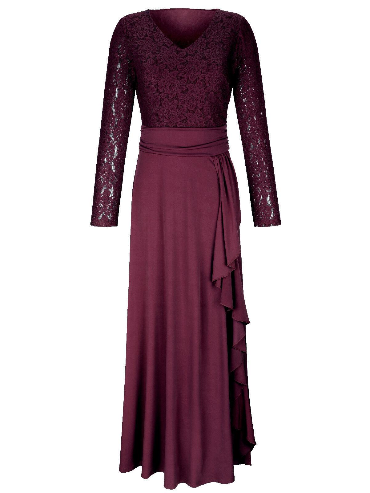Top Marken langes langes langes Spitzen Kleid beere Gr. 42, Gr, 44, Gr. 46, Gr. 48 1118336293 | Sale  | Sonderkauf  12c98f