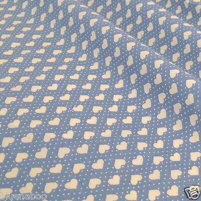 Per half metre/fat quarter cotton poplin small hearts 100 % cotton fabric