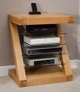 Superieur Image Is Loading Zouk Solid Oak Designer Furniture Hi Fi Cabinet