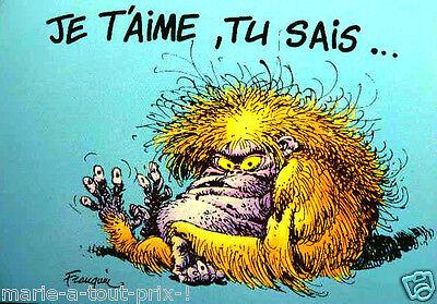 CARTE postale collector de Franquin BON ANNIVERSAIRE !