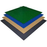 4 Genuine Lego Pieces Bricks + 4 Lego Compatible 10x10 Mixed Color Base Plates