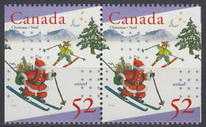 Canada-1628as-52-UNICEF-and-Christmas-Pair-from-Booklet-Mint-Never-Hinged-A