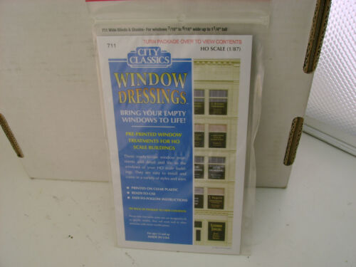 CITY CLASSICS 1:87 HO SCALE #711 WIDE BLINDS /& SHADES FOR WINDOWS 1//16 TO 9//16 W