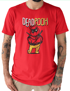 Dead Ourson-Marvel Anti Hero Winnie l/'ourson Mash Fan T-Shirt Rouge Adultes Unisexe